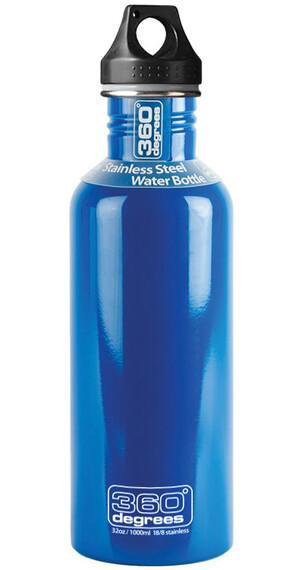 360° degrees Stainless Drinkfles 1000ml blauw